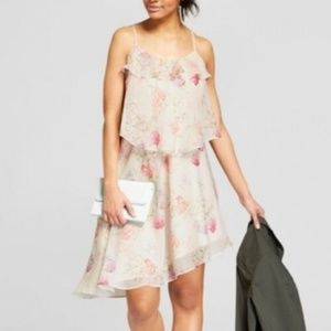 A New Day Floral Tiered Ruffle Asymmetrical Dress